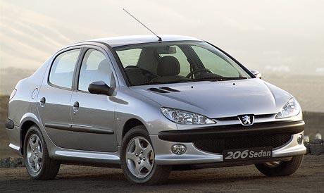 Peugeot 206 sedan: malá 607 pro východní trhy