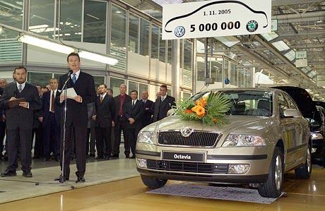Škoda Auto vyrobila od spojení s VW 5 milionů aut