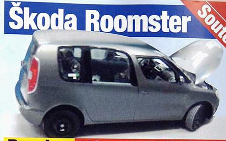 Škoda Roomster: špionážní foto