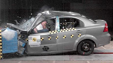 Euro NCAP: Chevrolet Aveo propadl