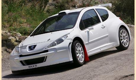 Peugeot  207 Super 2000 před dokončením