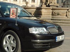 Škoda Superb na hradě absolvovala výměnu stráží