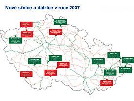 Letos bude v Česku dokončeno přes 70 km nových silnic a dálnic