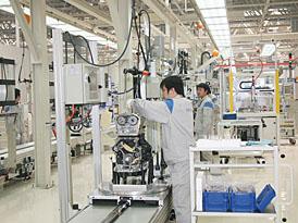 Volkswagen má novou motorárnu v čínském Dalianu