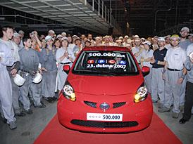 Automobilka TPCA vyrobila půlmiliontý vůz