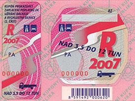Dálniční známky budou od roku 2008 dražší