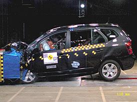 Euro NCAP: čtyři hvězdy pro MPV Kia Carens
