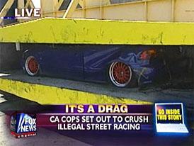 Konec pouličním závodům v Kalifornii: likvidací závodních strojů (video)