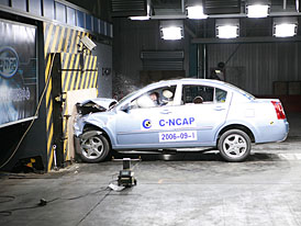 Crashtest Chery Amulet (video) a crashtesty v Číně