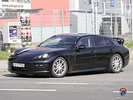 Spy Photos: Porsche Panamera odhazuje maskovací sítě (13 fotografií)
