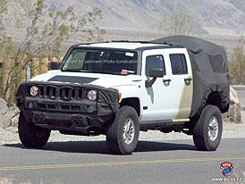 Spy Photos: Hummer H3T - čtyřdveřový pick-up pro příští rok