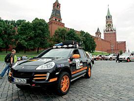 Porsche Cayenne Transsyberia –  již na trati náročné soutěže