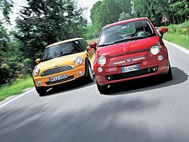 Srovnávací test Fiat 500 vs. Mini: Přešité minisukně