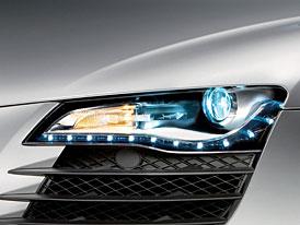 Audi R8 jako první dostane světlomety pouze ze světelných diod