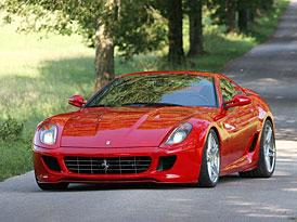 Rosso Ferrari 599 GTB: rud� ��bel pro Frankfurt