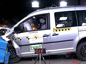 Euro NCAP: Volkswagen Caddy Life - 4 hv�zdy i bez hlavov�ch airbag�