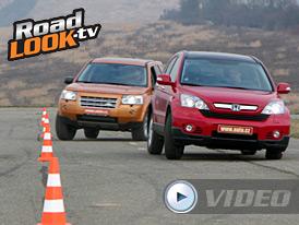 Srovnávací test Roadlook TV: Honda CR-V vs. Land Rover Freelander