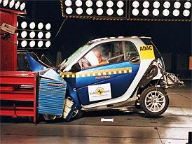Euro NCAP: Smart ForTwo si vysloužil 4 hvězdy