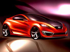 Hyundai Genesis Coupé: skici odhaleny