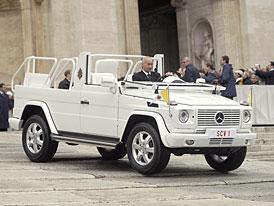 Mercedes-Benz: Papež má nový papamobil pro dobré počasí