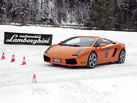 Lamborghini Winter Academy: hrátky s býky na sněhu