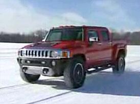 Video: Hummer H3T – novinka na projížďce ve sněhu