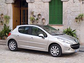 Automobilový trh Evropy: Nejprodávanějším autem je stále Peugeot 207