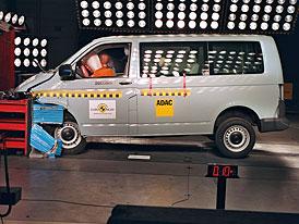 Euro NCAP: Volkswagen T5 - i dodávka může být (relativně) bezpečná + video