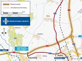 Dálnice D1 je delší o 7 km, přiblížila se k Přerovu