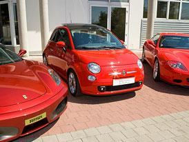 Jediný Fiat 500 s geny Ferrari dorazil do Čech