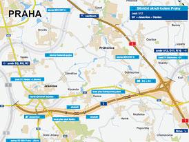 Nov� omezen� na D1 p�ed Prahou od ned�le a� do konce roku 2011