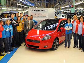 Fiat Grande Punto: Milion vyrobených kusů za tři roky