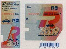Dálniční známky na rok 2009, ceny se nemění