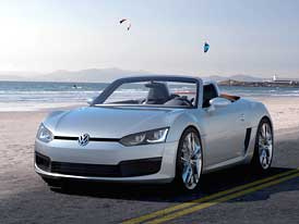 Volkswagen Concept BlueSport: Malý roadster s 2,0 TDI před zadní nápravou