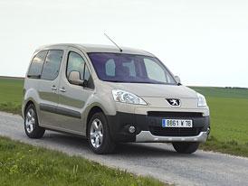 Peugeot Partner Teepee: Třetí řada sedadel za 30.900,- Kč