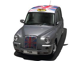 London Taxi International TX4: Limitovaná edice taxi s britskou vlajkou na chladiči