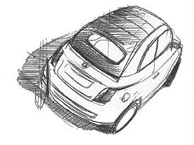 Fiat 500 Cabrio: Oficiální skica odhaluje řešení střechy