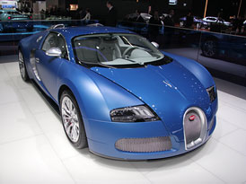 Autosalon Ženeva: Bugatti Veyron Bleu Centenaire – Století v modrém