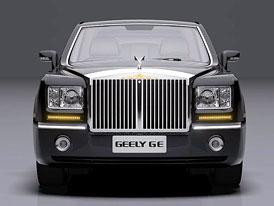 Geely GE: Luxusní limuzína jako klon Rolls-Royce, trůn pro nejvyššího v ceně