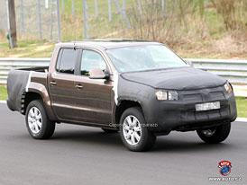 Spy Photos: Nový pick-up Volkswagen Robust na okruhu