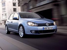 Prodej aut v Evropě (květen 2009): Volkswagen Golf, následován Fiestou, 207, Corsou a Puntem