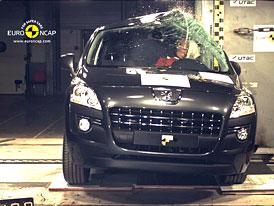 Euro NCAP 2009:  Peugeot 3008 - 5 hvězd, rezervy při nárazu na kůl i při konstrukci opěrek hlavy