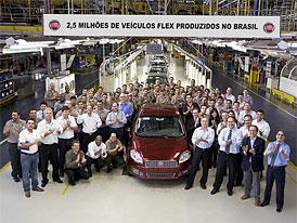 Fiat Automóveis: Po Brazílii jezdí už na etanol 2,5 milionu Fiatů