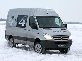 Test: Mercedes-Benz Sprinter 4x4 - Bezpečně na sněhu
