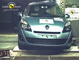 Euro NCAP 2009: Renault Grand Scenic – Pět hvězd, ale nedostatečná ochrana chodců