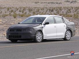 Spy Photos: Nový Volkswagen NCS jako větší Jetta pro USA