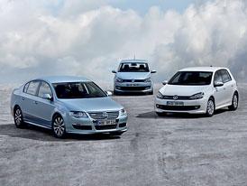 Úsporné VW BlueMotion: Polo (3,3 l/100 km), Golf (3,8 l/100 km) a Passat (4,4 l/100 km)