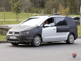 Spy Photos: Volkswagen Sharan - Nové MPV pro Evropu (nové foto)