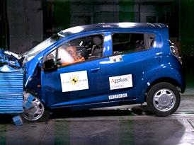 Euro NCAP 2009:  Chevrolet Spark –  Jen čtyři hvězdy díky absenci ESP