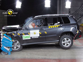 Euro NCAP 2009:  Mercedes Benz GLK �  Hv�zda s p�ti hv�zdami, ale rezervy existuj�